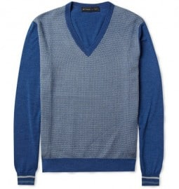 Etro Pattern-front Wool And Silk-blend Sweater