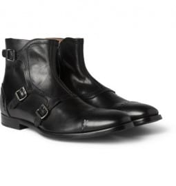 Alexander Mcqueen Buckled Leather Boots