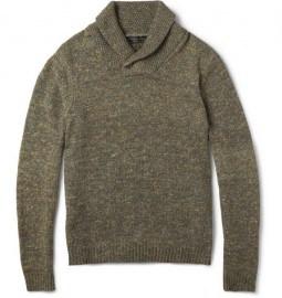 Rag & Bone Holst Flecked Shawl-collar Sweater