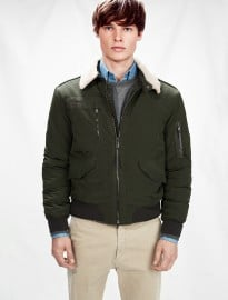 He By Mango Aviator Bomber Jacket