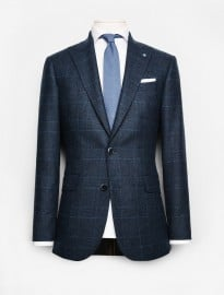 He By Mango Prince Of Wales Wool-blend Suit Blazer