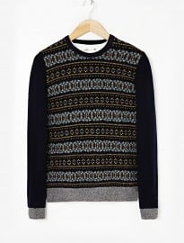 He By Mango Jacquard Wool-blend Sweater