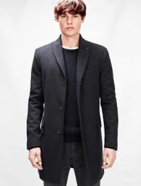 He By Mango Wool-blend Overcoat