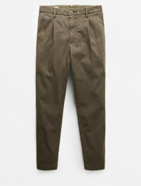 He By Mango Pleated Printed Chinos