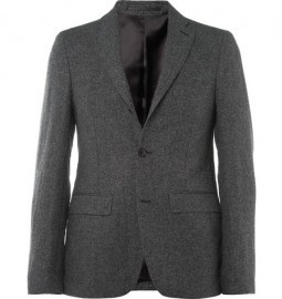 Acne Drifter Slim-fit Linen And Cotton-blend Suit Jacket
