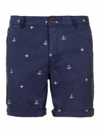 Topman Blue Nautical Motif Shorts