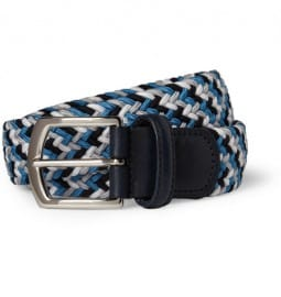 Andersons Leather-trimmed Elasticated Woven Belt