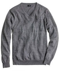J. Crew Rugged Cotton V-neck Sweater
