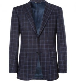 Canali Capri Plaid Wool And Cashmere-blend Blazer