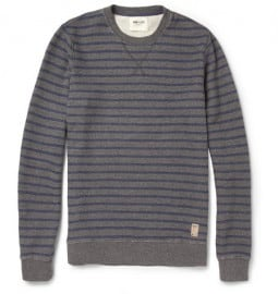 Nn.07 Roger Striped Loopback Cotton-jersey Sweater