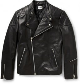 Edwin Further Leather Biker Jacket