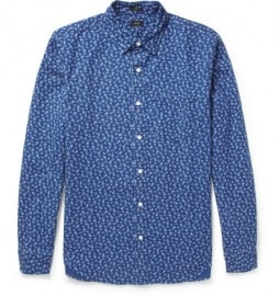 J.crew Flower-print Cotton Shirt