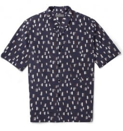 Christophe Lemaire Oversized Printed Silk And Cotton-blend Shirt