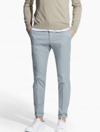 He By Mango Slim-fit Tailored Cotton Chinos