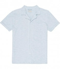 Reiss Bergdorf Short Sleeve Cuban Pique Shirt