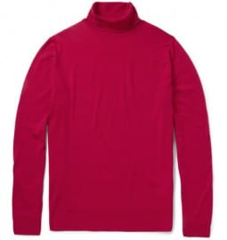 John Smedley Belvoir Rollneck Merino Wool Sweater