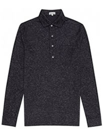 Reiss Goa Mottled Polo Shirt Navy