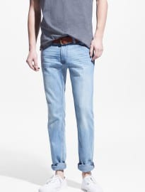 He By Mango Slim-fit Light Wash Jan Jeans