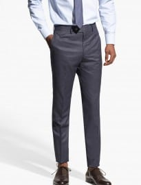 He By Mango Micro-houndstooth Suit Trousers