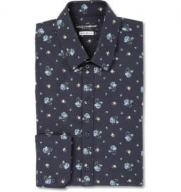 Dolce & Gabbana Sicilia Slim-fit Printed Cotton-blend Shirt