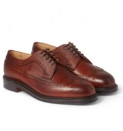 Grenson Stanley Brogues In Tan