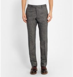 Billy Reid Slim-fit Wool And Cashmere-blend Tweed Trousers