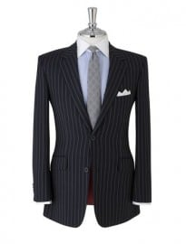 Stewart Regular Fit 2-button Navy Stripe Suit