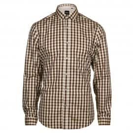 Boss Black Mens Lorenzo Brown Checked Shirt