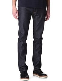 Acne Roc Raw Slim-fit Tapered Jeans