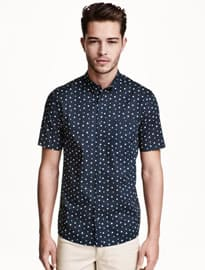 H&m Short-sleeved Cotton Shirt