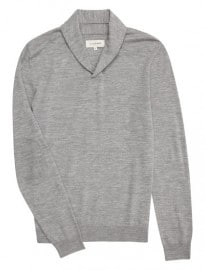 Merino Wool Shawl Neck Jumper