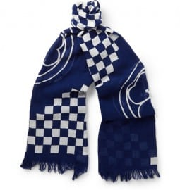 Junya Watanabe Printed Cotton And Linen-blend Scarf
