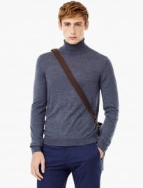 He By Mango Stand-collar Merino Wool Sweater