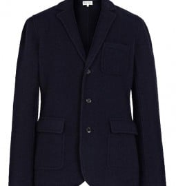 Reiss Fielding Merino Wool Blazer Navy
