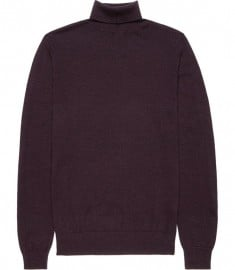 Reiss Moon Extra Fine Merino Roll Neck Bordeaux