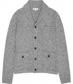 Reiss Amo Salt & Pepper Cardi With Pockets Grey