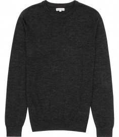 Reiss Onyx Merino Wool Jumper Charcoal