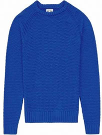 Reiss Chiswick Chunky Weave Jumper Bright Blue