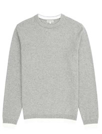 Reiss Hope Contrast Hem Jumper Grey