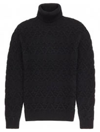 Reiss Jefferson Chunky Rollneck Jumper Midnight