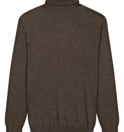 Reiss Neptune Roll Neck Merino Jumper Dark Brown