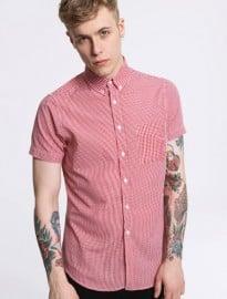 Shore Leave Red Gingham Short-sleeve Shirt