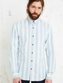 Selected Homme Danni Striped Shirt In Blue And White
