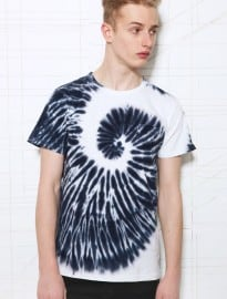 Worland Spiral Tie-dye Tee In Blue