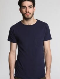 Commodity Stock Navy Basic One-pocket Tee