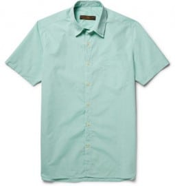 Freemans Sporting Club Slim-fit Cotton-poplin Shirt