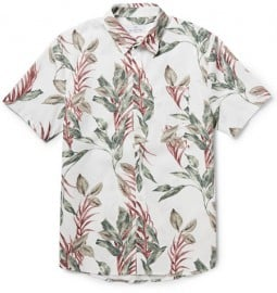 Hentsch Man Printed Cotton-poplin Short-sleeved Shirt