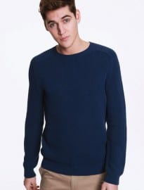 Apc Madras Textured Crew Neck Knit Sweater