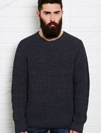Indigo & Maine Fisherman Jumper In Navy