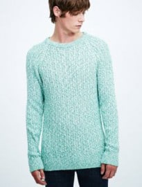 Shore Leave Vancouver Cable Knit Jumper In Green